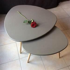 Table Gigogne Scandinave : 3 tables basses gigogne faire soi m me ~ Teatrodelosmanantiales.com Idées de Décoration