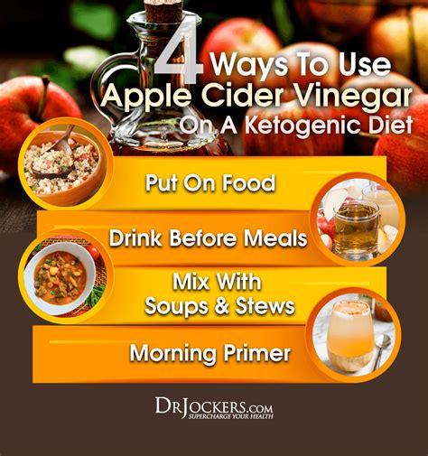 ways   apple cider vinegar   keto diet
