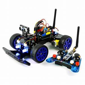 Adeept Remote Control Smart Car Kit For Arduino Based On Nrf24l01 2 4g Wireless  Robot Starter
