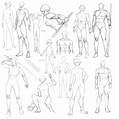 Anime Poses Reference Template Coloring Male