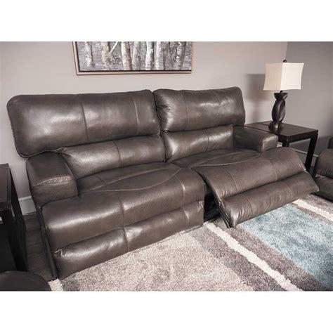wembley steel italian leather power reclining sofa