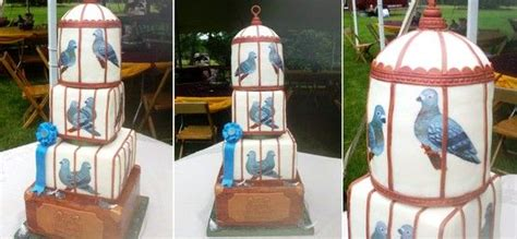 birthday homing pigeon cake decorative jars