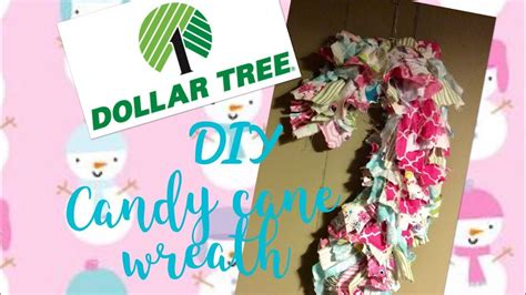 dollar tree diy shabby chiccozy cottage candy cane wreath