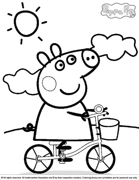 Peppa Pig A4 Coloring Pages 2019 Open Coloring Pages