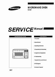 Microwave Repair  Samsung Microwave Repair Manual