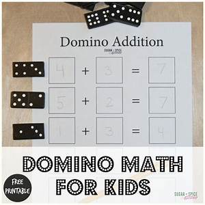 Domino Math for Kids with Free Printable ⋆ Sugar, Spice