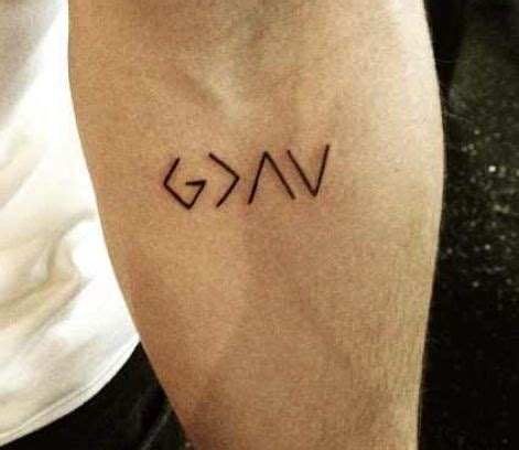 god  greater   ups  downs tattoos