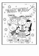 Magic Words Worksheets Activities Worksheet Thank Coloring Esl Teaching Resources Template Thanks Larger Draw Credit Eslprintables sketch template