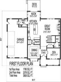 open floor plan blueprints house design drawings open floor plan 4 bedroom 2 story house plans with basement
