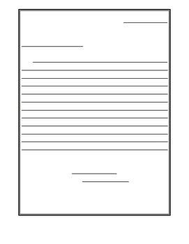 friendly letter template printout functional writing