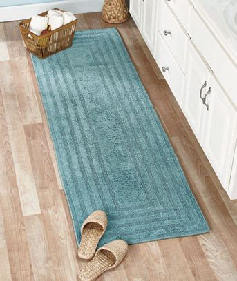 bathroom rug runner reversible cotton bath rugs or 72 quot runners the lakeside