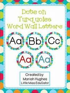 1000 ideas about word wall letters on pinterest word With dots on turquoise letters
