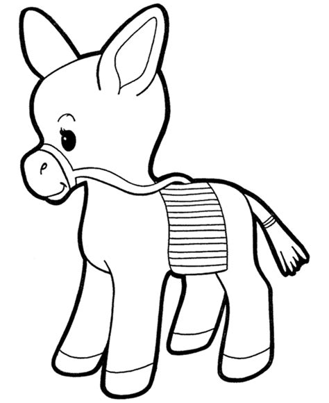 farm animal coloring page donkey pinata coloring book