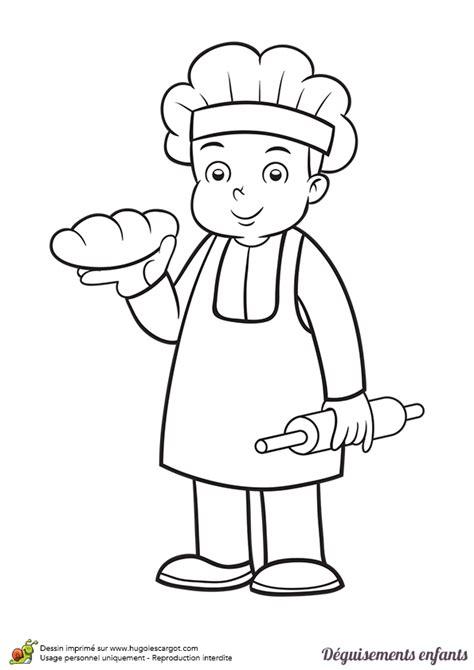 tablier et toque de cuisine coloriage déguisements enfant boulanger