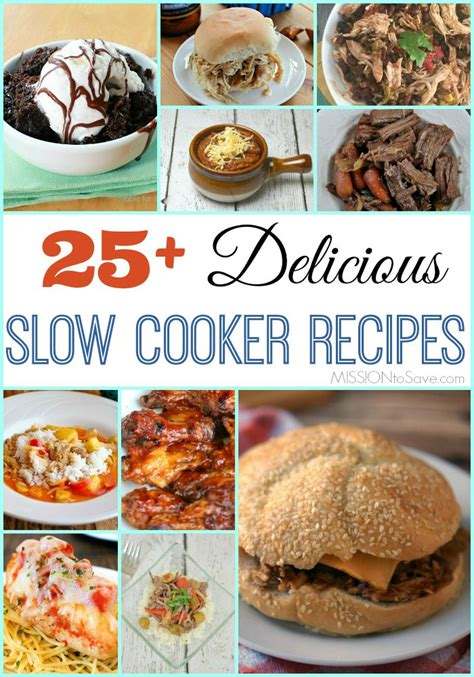 25+ Delicious Slow Cooker Recipes Appetizers, Main Dish