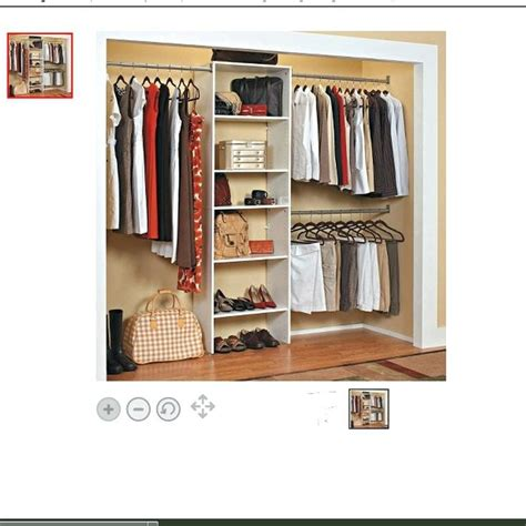 Threshold Double Rod Closet Organizer  Beautiful Home Ideas