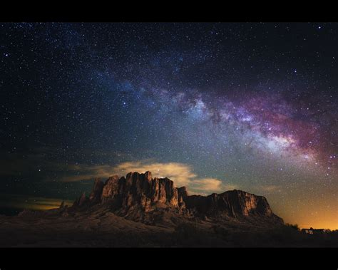 Milky Way Over Superstition Mountain Milky Way Over The