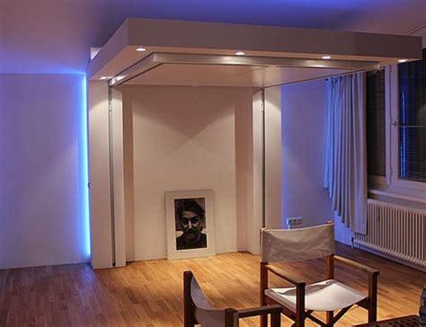 Lit Escamotable Plafond Pour Plus D`espace En 17 Idées Top
