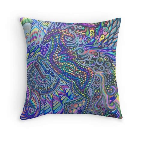 'Psychedelic Unicorn Sharpie Marker Blue Rainbow Drawing ...
