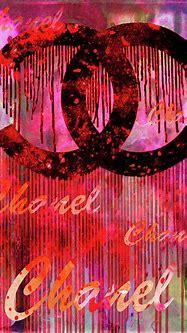 Chanel Logo dripping Red Digital Art by Del Art