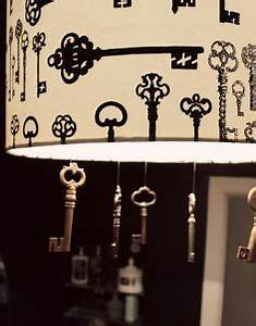 Pretty way to display antique skeleton keys for the home for Kitchen cabinets lowes with skeleton key wall art