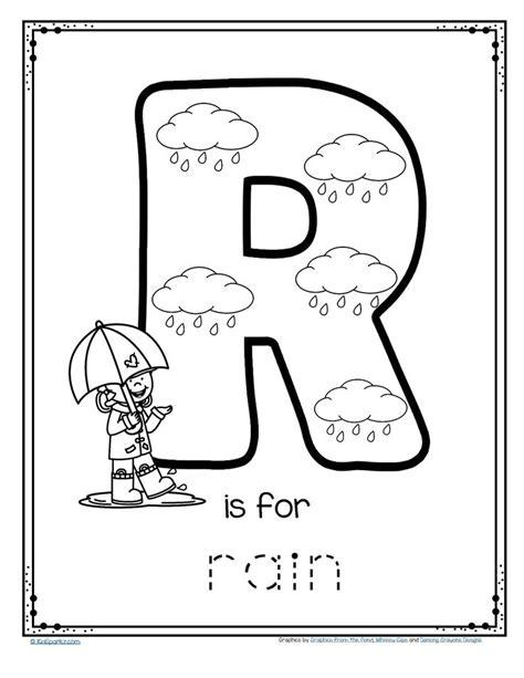 rain alphabet trace  color printable