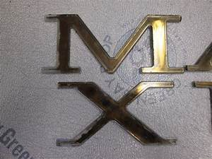 Maxum full set of dark gold letter logo decal nameplate ebay for Maxum boat letters