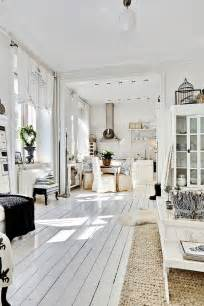 White Interior Homes Decordemon Shabby Chic Atmosphere For A Swedish Apartment