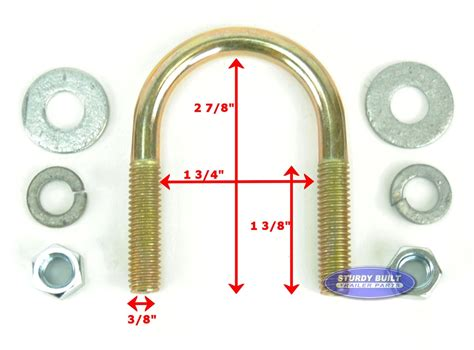 bolt inch round trailer zinc plated bolts boat stainless ubolts categories mounting
