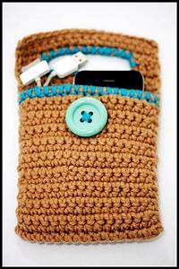 Mobiles Ladegerät Iphone : crochet cell phone charger holder iphone fits all phones brown deko h kelanleitung ~ Orissabook.com Haus und Dekorationen