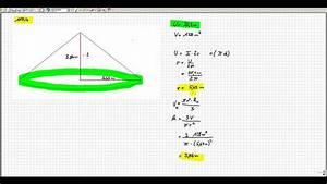 Kegel Volumen Berechnen : volumen kegel berechnen mathematik realschule youtube ~ Themetempest.com Abrechnung