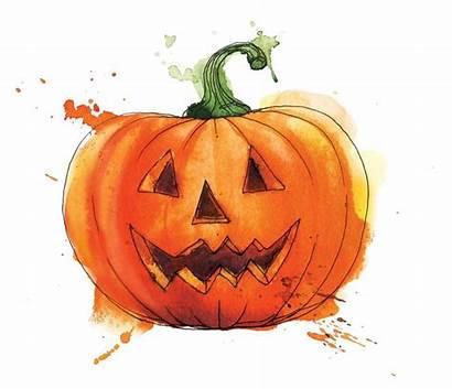 Luck Watercolor Georgina Halloween Jack Lantern Pumpkin