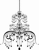 Chandelier Illustration Pattern Depositphotos Vector Vectors Royalty sketch template