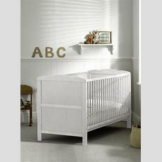 Brand New White Cot Bed & Cotbed Deluxe Mattress, Converts