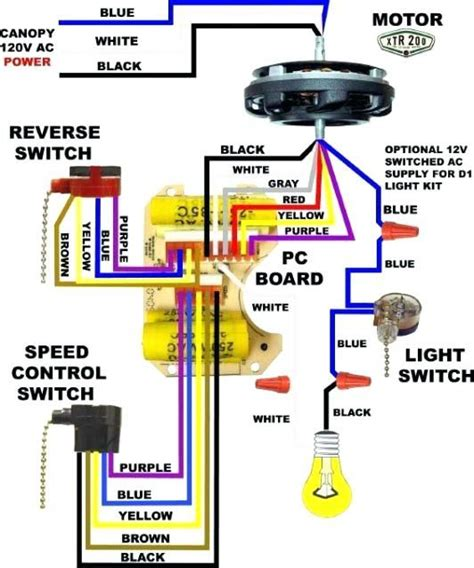 Wiring Diagram Remote Ceiling Fan by Wiring Diagram For Ceiling Fan With Light And Remote