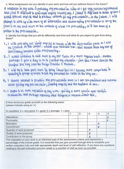how to answer a self evaluation form ppp ppp1 module self evaluation