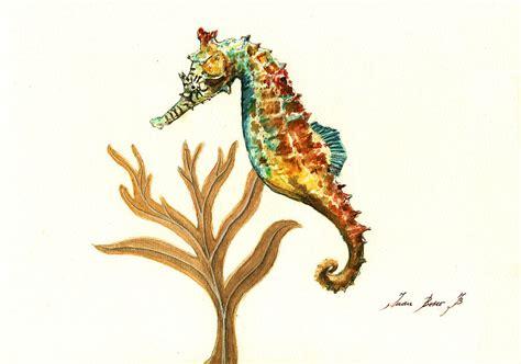 rainbow seahorse painting by juan bosco