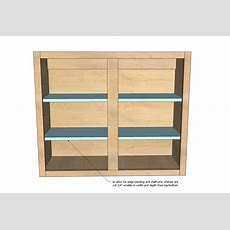 """Ana White  36"""" Wall Cabinet, Double Door  Momplex"""