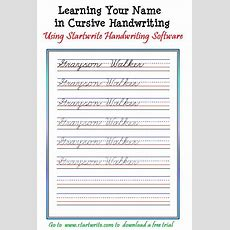 Introducing Children To Cursive With Their Name From Startwrite  Improving Handwriting