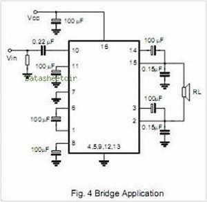 bridge ic tea2025 amplifier circuit circuit diagram images With lm4856 integrated audio amplifier circuit diagram datasheet and application