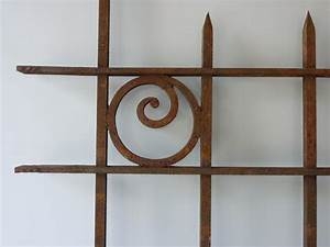 Grille Murale Deco : grille de d fense fer forg art d co xxe s pf 893 ~ Teatrodelosmanantiales.com Idées de Décoration