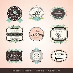 Vintage wedding badges Vector   Free Download