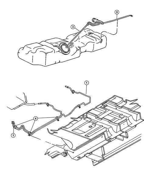 2002 Town And Country Transmission Diagram by Chrysler Town Country Fuel Supply Line Fuel Line