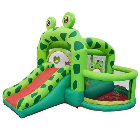 aire de jeux structure gonflable en forme de grenouille pour enfants kermit