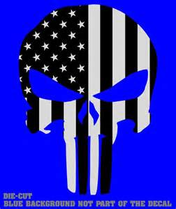 American Flag Punisher Skull Decal Sticker