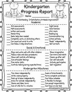 Science Projects Reports Sample Kindergarten Progress Report For Parent Teacher