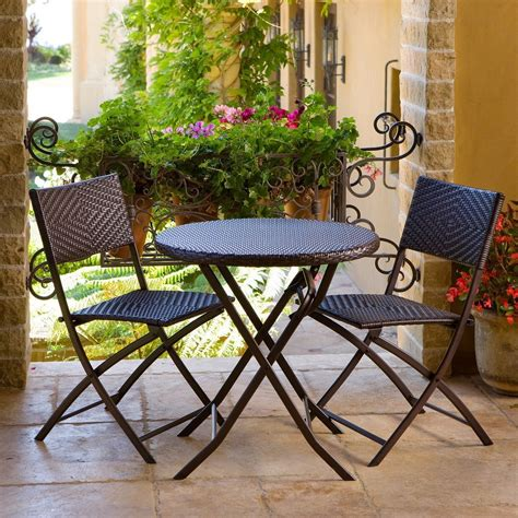 3 outdoor bistro patio furniture set in espresso