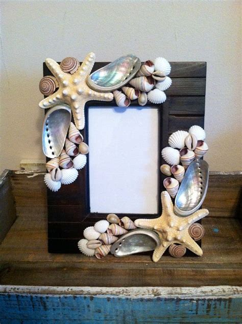 beach decor seashell picture frame shell picture frame