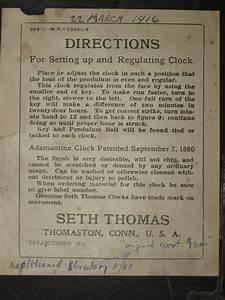 Seth Thomas  U201cadamantine U201d Mantel Clock With  U201cding Dong