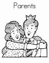 Coloring Parents Pages Respect Showing Mother Father Colouring Honor sketch template